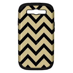 Chevron9 Black Marble & Light Sand (r) Samsung Galaxy S Iii Hardshell Case (pc+silicone) by trendistuff