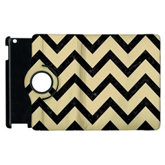 Chevron9 Black Marble & Light Sand (r) Apple Ipad 3/4 Flip 360 Case by trendistuff