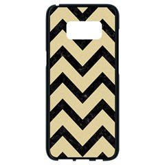 Chevron9 Black Marble & Light Sand (r) Samsung Galaxy S8 Black Seamless Case by trendistuff