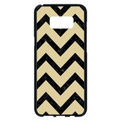 Chevron9 Black Marble & Light Sand (r) Samsung Galaxy S8 Plus Black Seamless Case by trendistuff