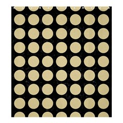 Circles1 Black Marble & Light Sand Shower Curtain 66  X 72  (large)  by trendistuff