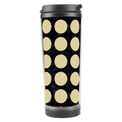 Circles1 Black Marble & Light Sand Travel Tumbler by trendistuff