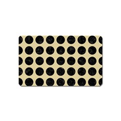 Circles1 Black Marble & Light Sand (r) Magnet (name Card) by trendistuff