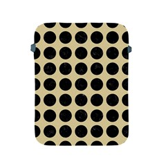 Circles1 Black Marble & Light Sand (r) Apple Ipad 2/3/4 Protective Soft Cases by trendistuff