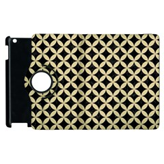 Circles3 Black Marble & Light Sand Apple Ipad 3/4 Flip 360 Case by trendistuff