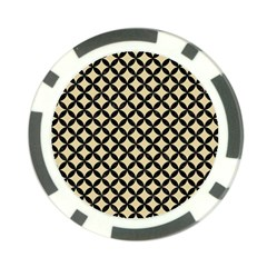 Circles3 Black Marble & Light Sand (r) Poker Chip Card Guard (10 Pack) by trendistuff