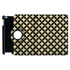 Circles3 Black Marble & Light Sand (r) Apple Ipad 2 Flip 360 Case by trendistuff