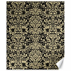Damask2 Black Marble & Light Sand Canvas 20  X 24   by trendistuff
