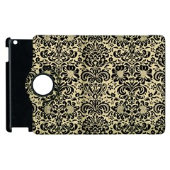 Damask2 Black Marble & Light Sand (r) Apple Ipad 3/4 Flip 360 Case by trendistuff