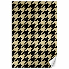 Houndstooth1 Black Marble & Light Sand Canvas 20  X 30   by trendistuff