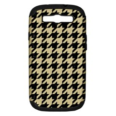 Houndstooth1 Black Marble & Light Sand Samsung Galaxy S Iii Hardshell Case (pc+silicone) by trendistuff