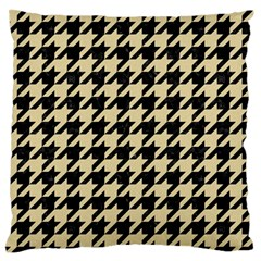 Houndstooth1 Black Marble & Light Sand Standard Flano Cushion Case (one Side) by trendistuff