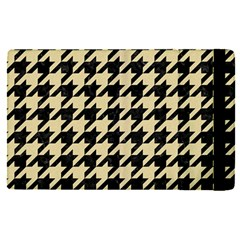 Houndstooth1 Black Marble & Light Sand Apple Ipad Pro 9 7   Flip Case by trendistuff