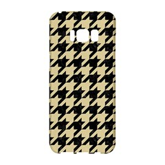 Houndstooth1 Black Marble & Light Sand Samsung Galaxy S8 Hardshell Case  by trendistuff