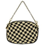 HOUNDSTOOTH2 BLACK MARBLE & LIGHT SAND Chain Purses (Two Sides)  Back