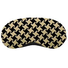 Houndstooth2 Black Marble & Light Sand Sleeping Masks by trendistuff