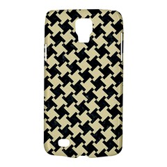 Houndstooth2 Black Marble & Light Sand Galaxy S4 Active by trendistuff