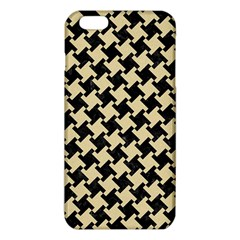 Houndstooth2 Black Marble & Light Sand Iphone 6 Plus/6s Plus Tpu Case by trendistuff