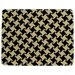 Houndstooth2 Black Marble & Light Sand Jigsaw Puzzle Photo Stand (rectangular) by trendistuff