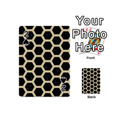 Hexagon2 Black Marble & Light Sand Playing Cards 54 (mini)  by trendistuff