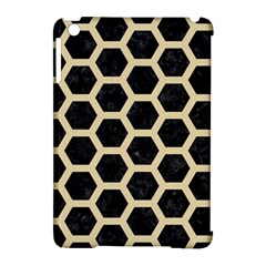 Hexagon2 Black Marble & Light Sand Apple Ipad Mini Hardshell Case (compatible With Smart Cover) by trendistuff