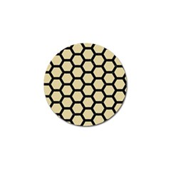 Hexagon2 Black Marble & Light Sand (r) Golf Ball Marker by trendistuff