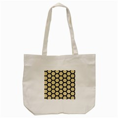 Hexagon2 Black Marble & Light Sand (r) Tote Bag (cream) by trendistuff