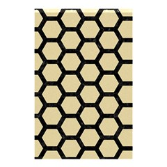 Hexagon2 Black Marble & Light Sand (r) Shower Curtain 48  X 72  (small)  by trendistuff