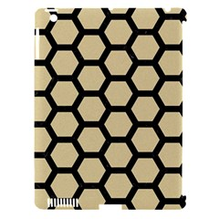 Hexagon2 Black Marble & Light Sand (r) Apple Ipad 3/4 Hardshell Case (compatible With Smart Cover) by trendistuff