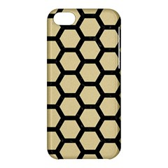 Hexagon2 Black Marble & Light Sand (r) Apple Iphone 5c Hardshell Case by trendistuff