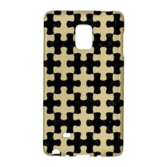 Puzzle1 Black Marble & Light Sand Galaxy Note Edge by trendistuff