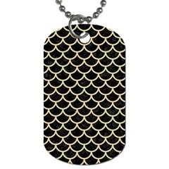 Scales1 Black Marble & Light Sand Dog Tag (one Side) by trendistuff