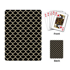 Scales1 Black Marble & Light Sand Playing Card by trendistuff