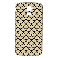 Scales1 Black Marble & Light Sand (r) Samsung Galaxy S5 Back Case (white) by trendistuff