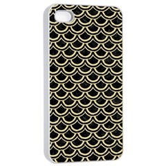 Scales2 Black Marble & Light Sand Apple Iphone 4/4s Seamless Case (white) by trendistuff