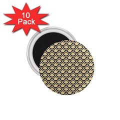 Scales2 Black Marble & Light Sand (r) 1 75  Magnets (10 Pack)  by trendistuff