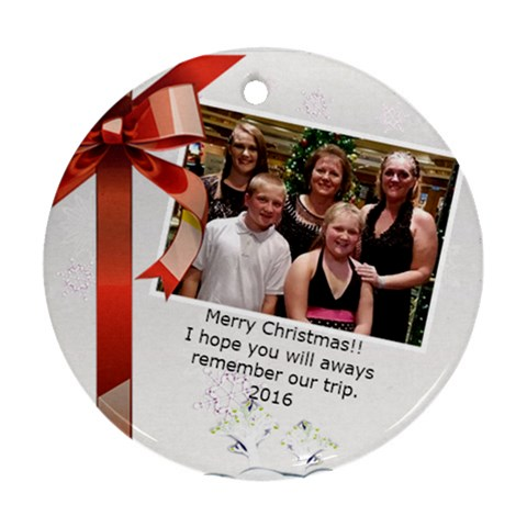 2016 Christmas By Kamryn   Ornament (round)   Jfijpi6gzqdh   Www Artscow Com Front