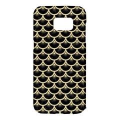 Scales3 Black Marble & Light Sand Samsung Galaxy S7 Edge Hardshell Case by trendistuff