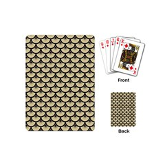 Scales3 Black Marble & Light Sand (r) Playing Cards (mini)  by trendistuff