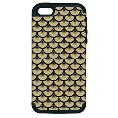 Scales3 Black Marble & Light Sand (r) Apple Iphone 5 Hardshell Case (pc+silicone) by trendistuff
