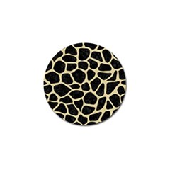 Skin1 Black Marble & Light Sand (r) Golf Ball Marker by trendistuff