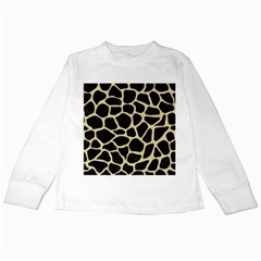 Skin1 Black Marble & Light Sand (r) Kids Long Sleeve T Shirts by trendistuff