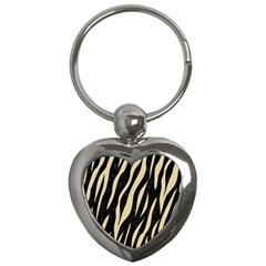 Skin3 Black Marble & Light Sand Key Chains (heart)  by trendistuff