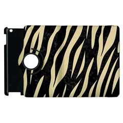 Skin3 Black Marble & Light Sand Apple Ipad 3/4 Flip 360 Case by trendistuff