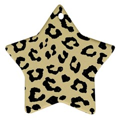 Skin5 Black Marble & Light Sand Star Ornament (two Sides) by trendistuff