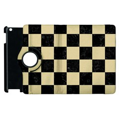 Square1 Black Marble & Light Sand Apple Ipad 3/4 Flip 360 Case by trendistuff