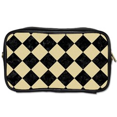 Square2 Black Marble & Light Sand Toiletries Bags by trendistuff