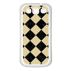 Square2 Black Marble & Light Sand Samsung Galaxy S3 Back Case (white) by trendistuff
