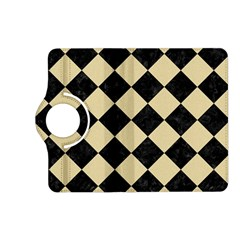 Square2 Black Marble & Light Sand Kindle Fire Hd (2013) Flip 360 Case by trendistuff