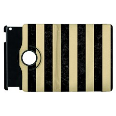 Stripes1 Black Marble & Light Sand Apple Ipad 3/4 Flip 360 Case by trendistuff